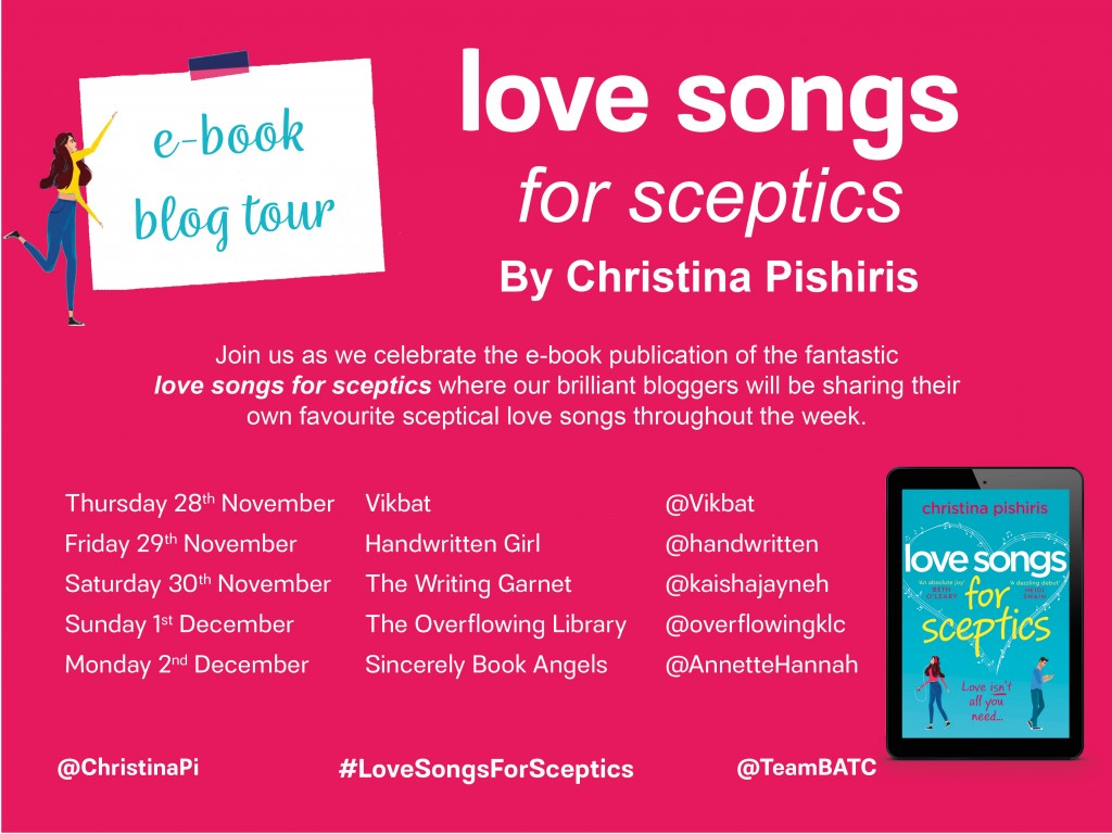 love songs for sceptics blog tour graphic