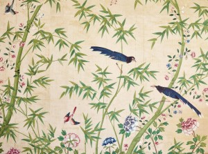 Fragment of wallpaper, late 18th - early 19th century or later (w/c on paper)