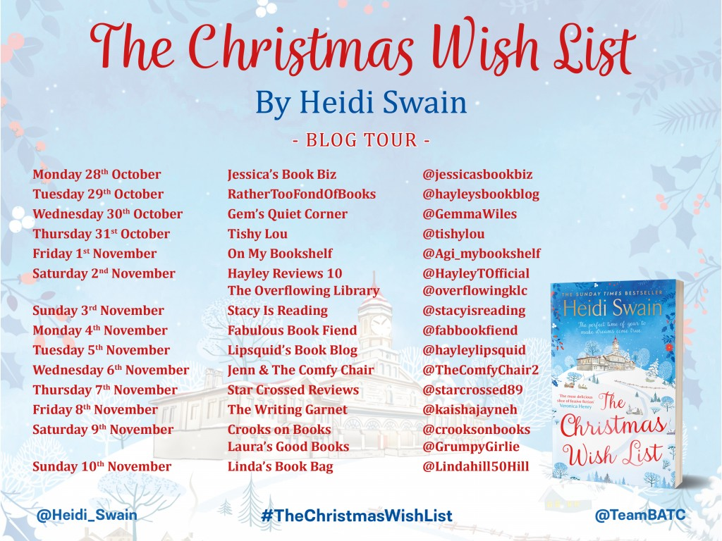 The Christmas Wish List Blog Tour Graphic