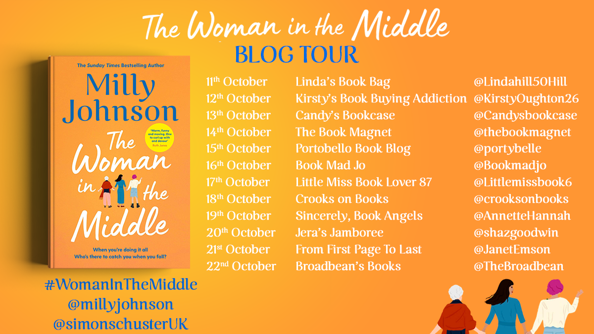 The Woman in the Middle blog tour banner